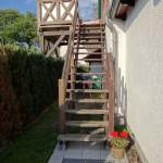 Ferienwohnung Obergeschoss Aufgang Terrasse